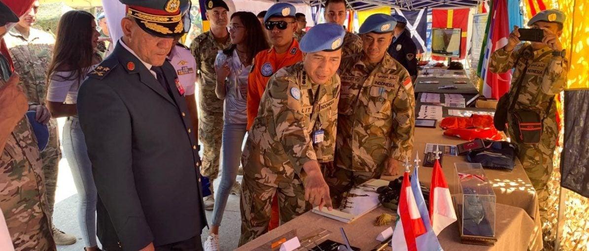 Satgas Maritim TNI Kontingen Garuda Pameran di Lebanon