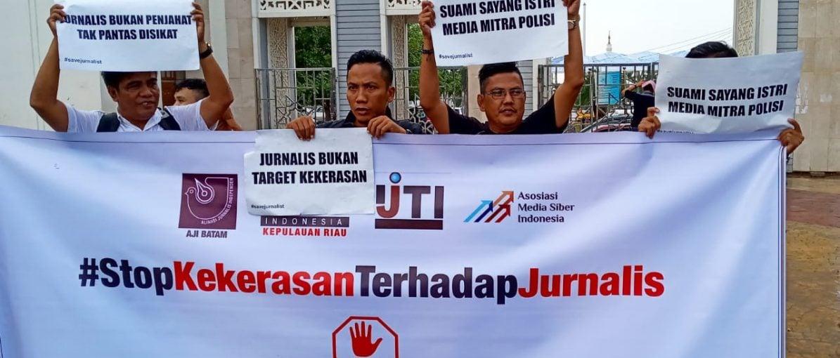 Gabungan Organisasi Jurnalis di Batam Sayangkan Tindakan Represif Aparat