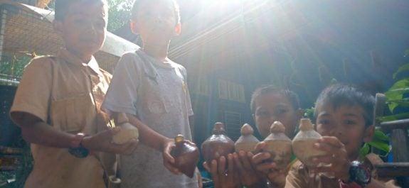 Anak-anak Desa Monggak. Foto: Mer/pelantar.id