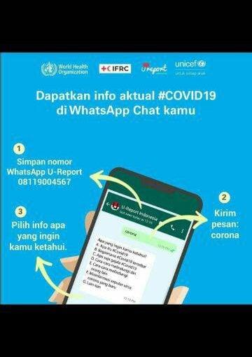 UNICEF Sediakan Chat Box Lewat WhatsApp untuk Informasi Virus Corona