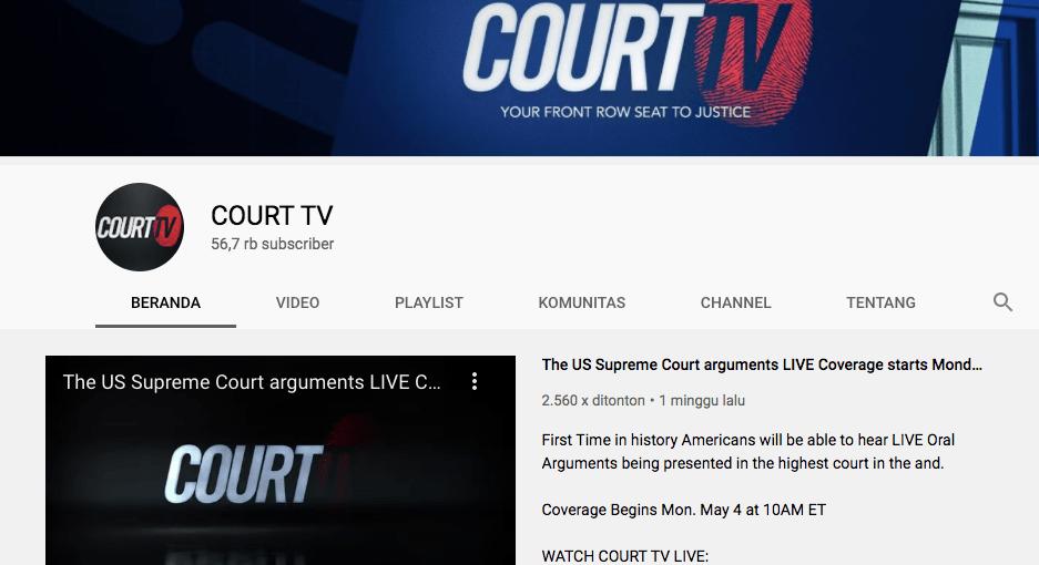 Court TV, Program Baru di Youtube TV yang Memuat Informasi Hukum dan Persidangan