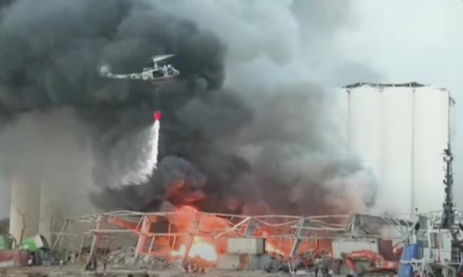 Ribuan Ton Bahan Peledak Luluh Lantakkan Kota Beirut