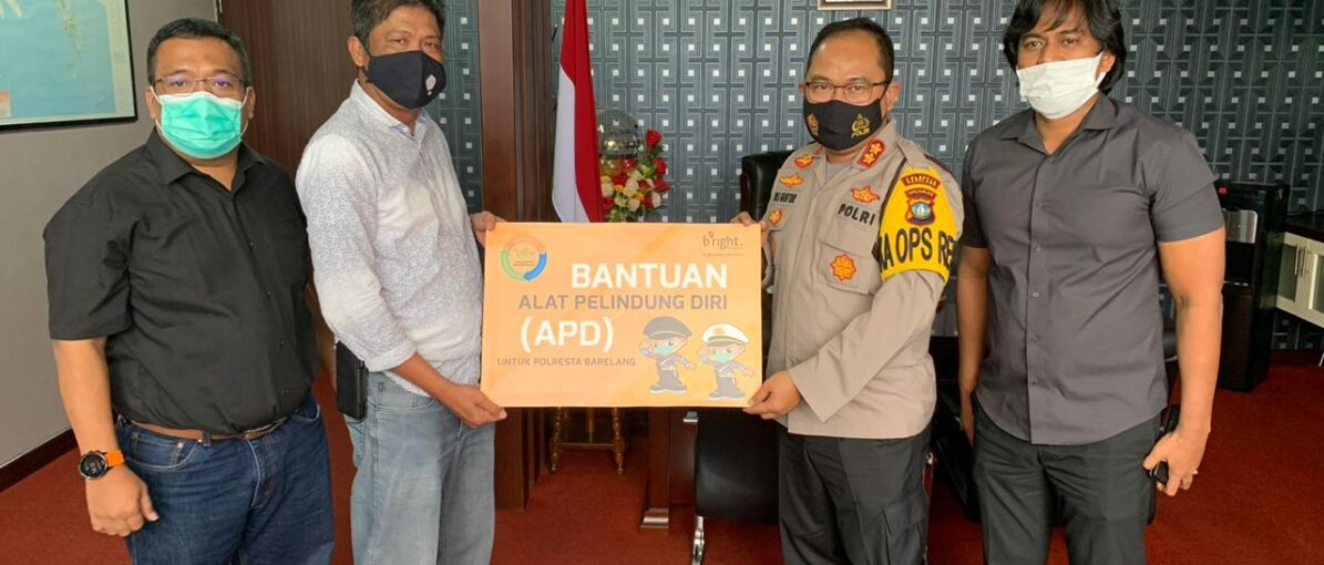 Bright PLN Batam Serahkan Bantuan APD untuk Polresta