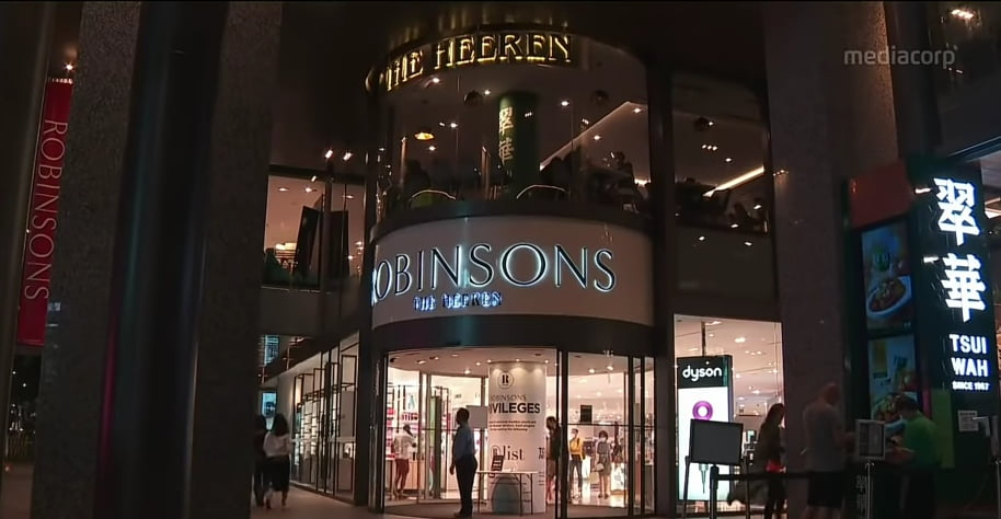Permintaan Menurun, 2 Gerai Robinsons Berusia 160 tahun di Tutup di Singapura