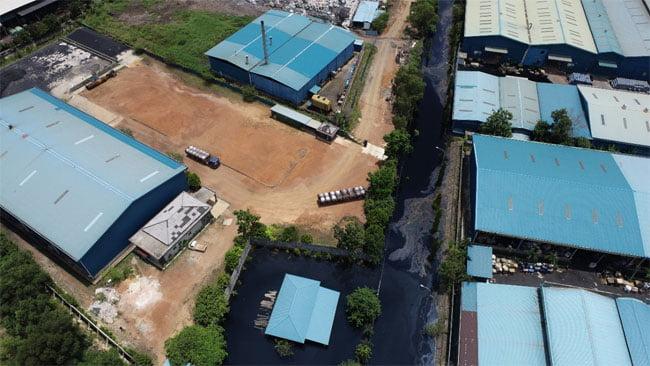 Kawasan Pengolahan Limbah Industri di Batam Terendam Air