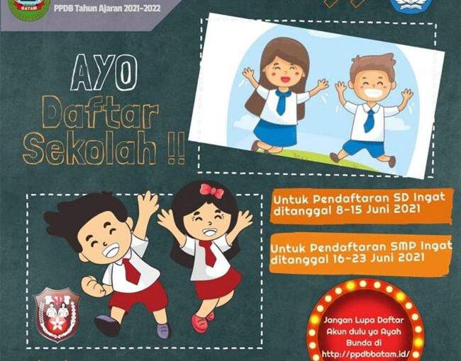 Ini Syarat Pendaftaran PPDB Tingkat SD dan SMP di Batam